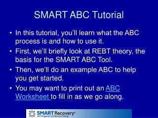 SMART ABC Tutorial
