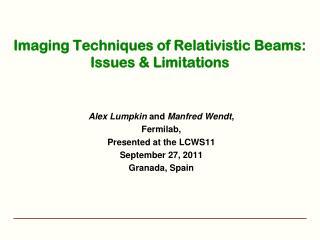 Imaging Techniques of Relativistic Beams:  Issues & Limitations