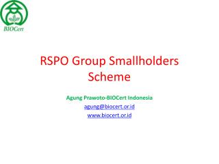 RSPO Group Smallholders Scheme