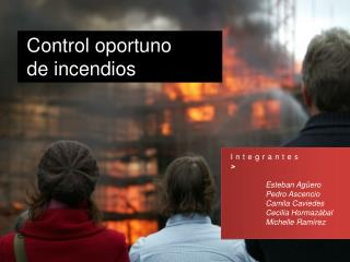Integrantes > Esteban Agüero Pedro Ascencio Camila  Caviedes Cecilia Hormazábal
