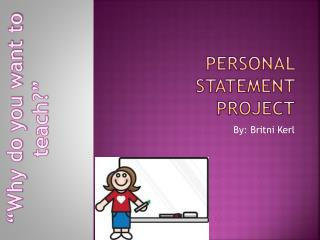 Personal statement project