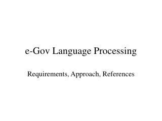 e-Gov Language Processing