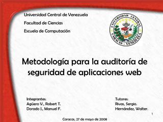Metodología para la auditoría de seguridad de aplicaciones web