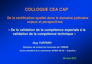 Guy TUFFERY           Directeur de recherche honoraire de l'ANSES