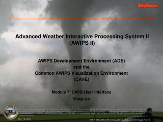 Advanced Weather Interactive Processing System II AWIPS II