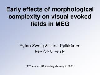 Early effects of morphological complexity on visual evoked fields in MEG