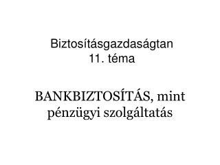 BANKBIZTOS T S, mint p nz gyi szolg ltat s