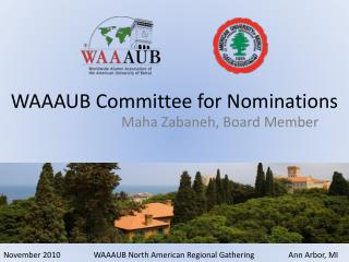 WAAAUB Committee for Nominations