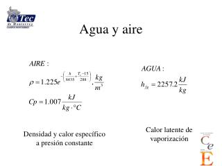 Agua y aire