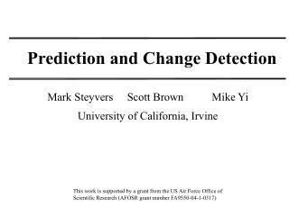 Prediction and Change Detection