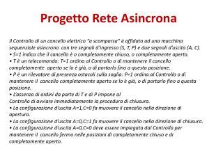 Progetto Rete Asincrona