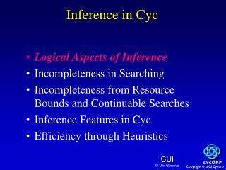 Inference in Cyc