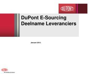 DuPont E-Sourcing  Deelname  Leveranciers