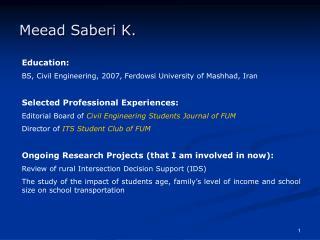 Meead Saberi K.