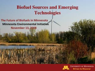Biofuel Sources and Emerging Technologies