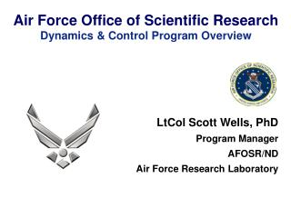 Air Force Office of Scientific Research Dynamics & Control Program Overview