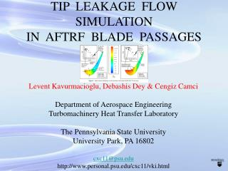 TIP  LEAKAGE  FLOW SIMULATION IN  AFTRF  BLADE  PASSAGES