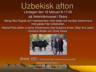 Uzbekisk afton