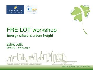 FREILOT workshop Energy efficient urban freight