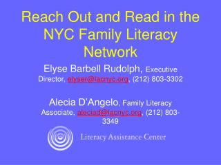 Reach Out and Read in the NYC Family Literacy Network