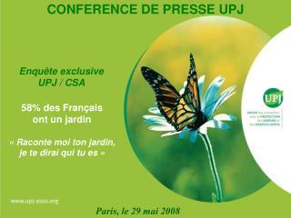 58% des Français  ont un jardin «Raconte moi ton jardin, je te dirai qui tu es»