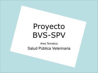 Proyecto BVS-SPV