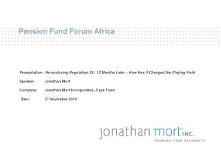 Pension Fund Forum Africa
