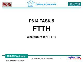 P614 TASK 5 FTTH