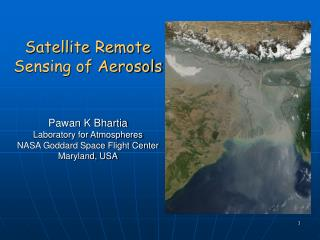 Satellite Remote Sensing of Aerosols