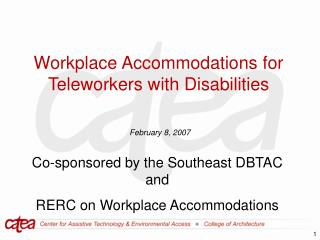 Workplace Accommodations for Teleworkers with Disabilities
