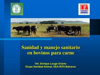 Sanidad y manejo sanitario   en bovinos para carne