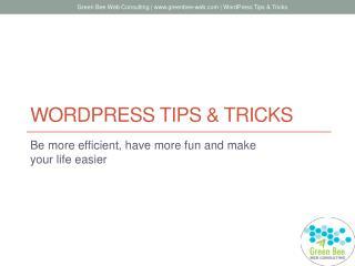 WordPress tips & tricks