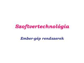 Szoftvertechnológia