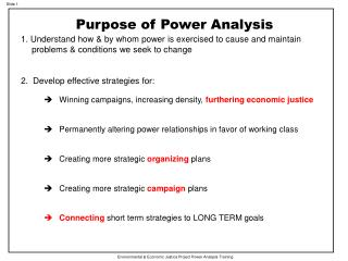 Environmental & Economic Justice Project Power Analysis Training