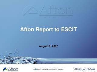 Afton Report to ESCIT