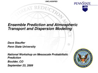 Ensemble Prediction and Atmospheric Transport and Dispersion Modeling