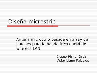 Dise o microstrip