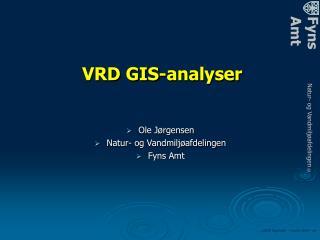 VRD GIS-analyser
