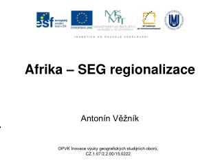 Afrika – SEG regionalizace