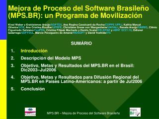 SUMÁRIO Introducción Descripción del Modelo MPS