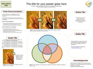 The title for your poster goes here Put your name and other authors of your paper or poster here