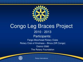 Congo Leg Braces Project