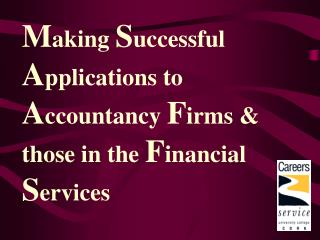 Making Successful Applications to