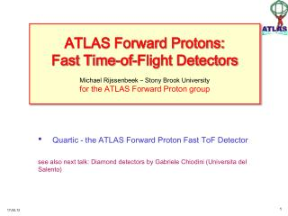 Quartic - the ATLAS Forward Proton Fast  ToF Detector