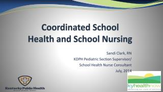 Coordinated School Health and School Nursing