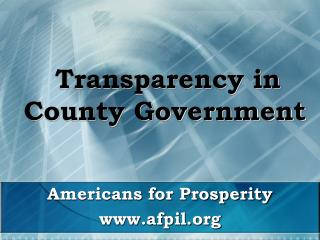 Transparency in County Government