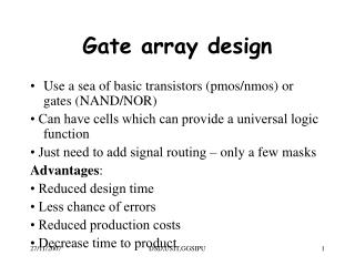 Gate array design