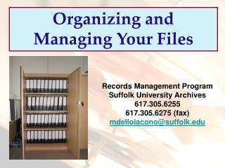Organizing and Managing Your Files