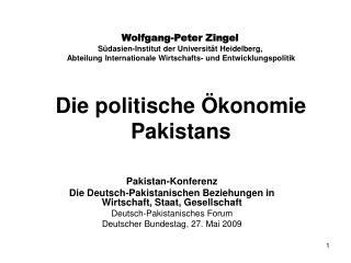 Die politische Ökonomie Pakistans
