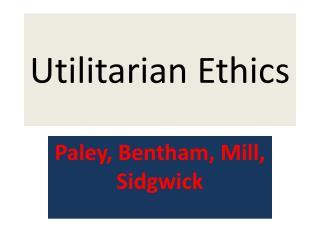 ethics kantian principle thesis utilitarian